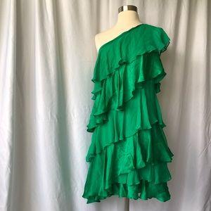 Halston Heritage One Shoulder Dress!